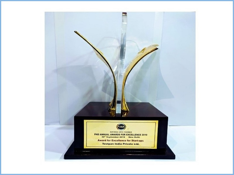 Award for Excellence for Start-ups by PHD Chamber-2019
